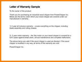 Warranty Certificate Letter Format 8 Warranty Certificate Format Park Attendant