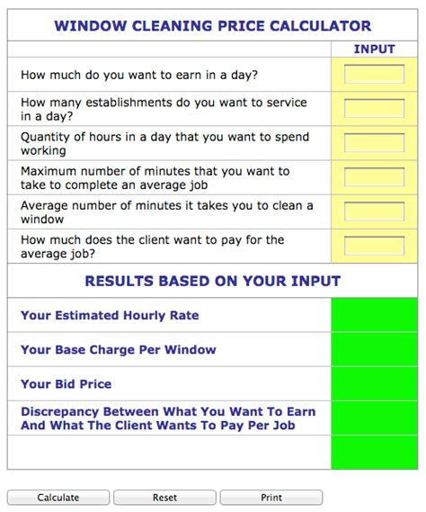 window estimate template and house cleaning estimate forms free