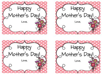 free printable gift tags mothers day image gallery mother s day gift tags