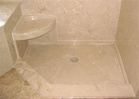 shower pan with bench seat accessories