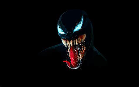 wallpaper venom artwork minimal dark background black