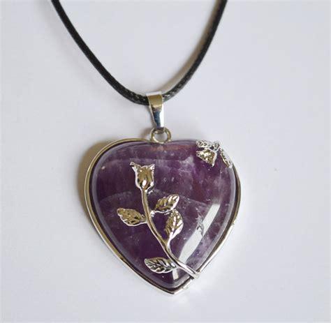 amethyst pendant necklace mystic wish