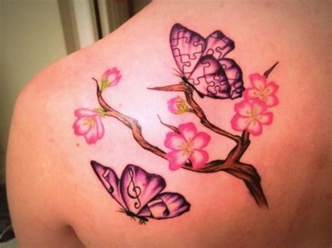 butterfly tattoo cherry blossom cherry blossom butterfly tattoo cool and beautiful