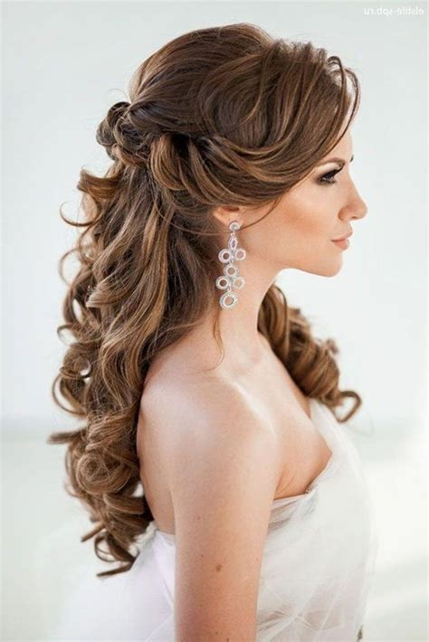 2019 Popular Long Curly Hairstyles For Wedding