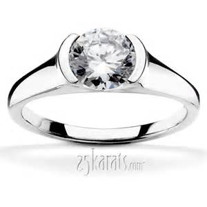 wedding ring set designs half bezel contemporary solitaire engagement ring