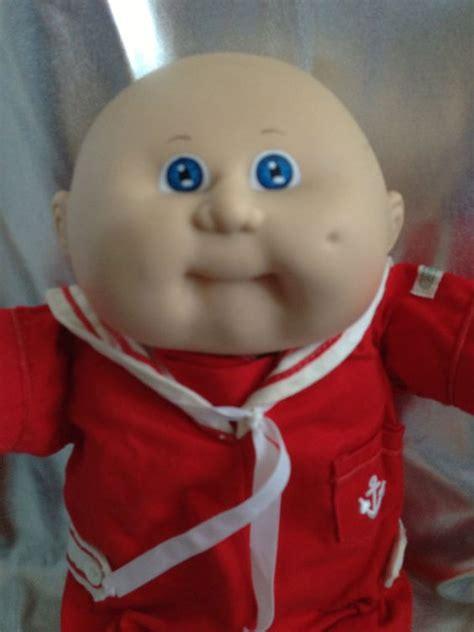 cabbage patch boy vintage cabbage patch kid bald blue sailor boy hm 8 kt