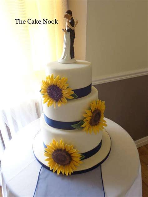 Sunflower Wedding Cake.   CakeCentral.com