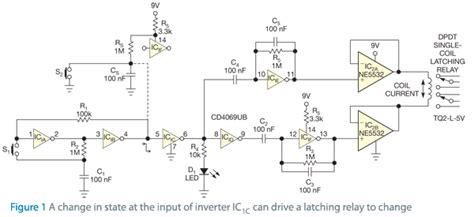 latching relay driver circuit