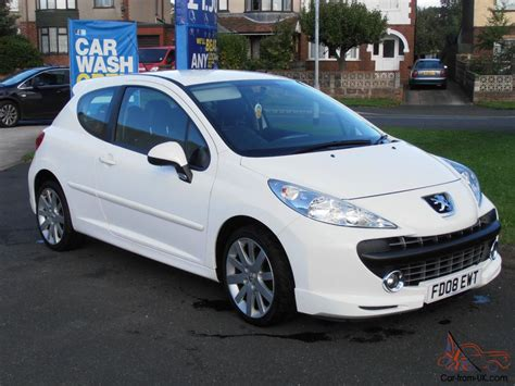 white peugeot for the gallery for gt peugeot 207 white