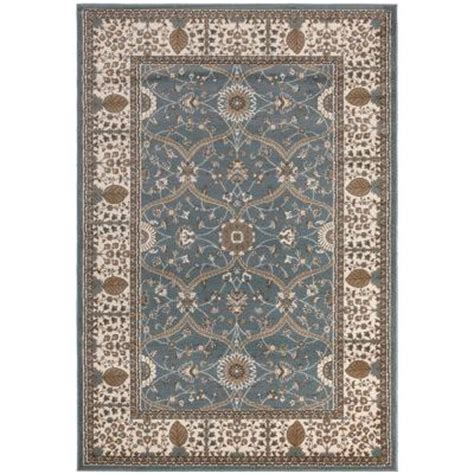 home depot 5x7 area rugs ottomanson traditional european blue 5 ft 3 in x 7 ft 7 in area rug rgl9056 5x7 the home depot