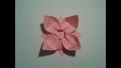 Flat Flower Channel how to make an easy origami flower