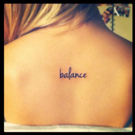 my quot balance quot tattoo tattoo pinterest cool fonts