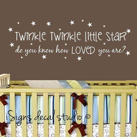 twinkle twinkle wall stickers twinkle twinkle wall decal nursery wall