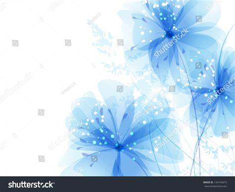 image of blue vector background blue flowers stock vector 134143673