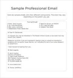 exles of email templates professional email template 7 free documents