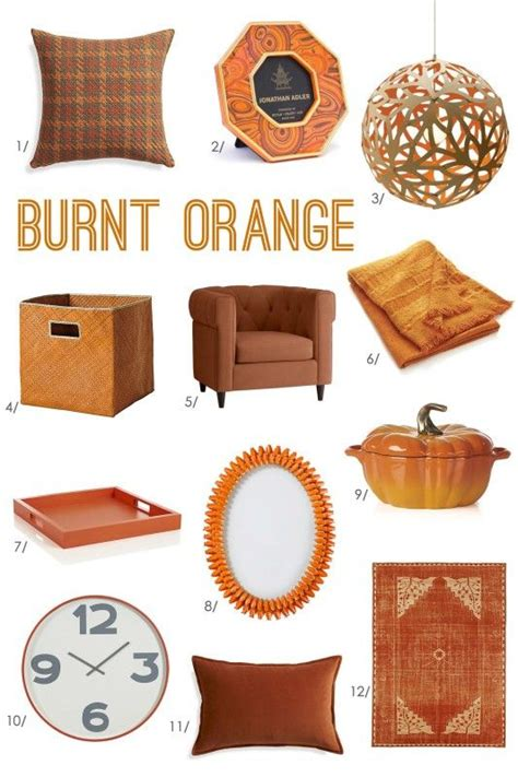 25 best ideas about orange decorations on pinterest burnt