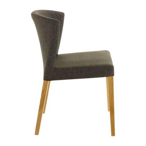 valentina chaises de salle 224 manger anthracite tissu bois