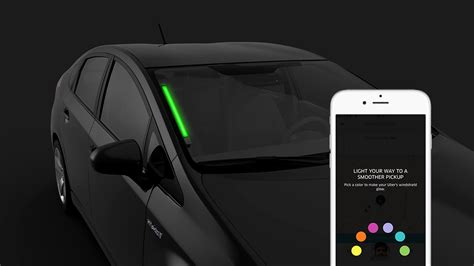 Uber Gives Drivers Color Coded Windshield Leds To Help