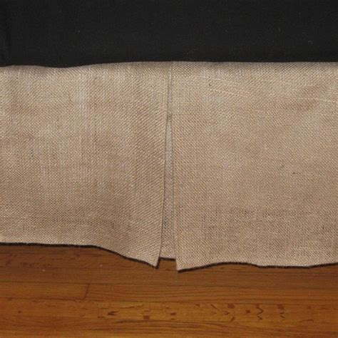 size bed skirt queen size burlap bed skirt with kick pleat on each side