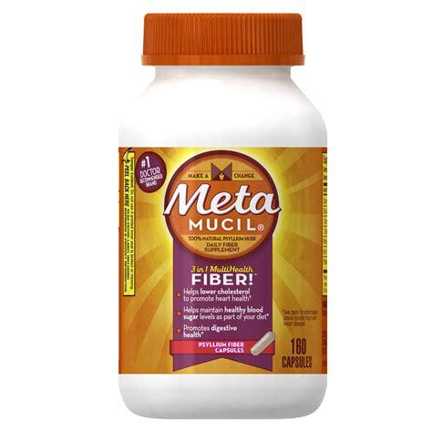 supplement vs medication metamucil psyllium fiber supplement capsules 160 capsules