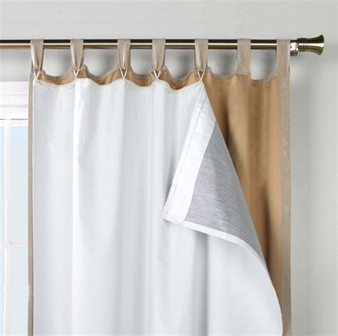 thermal liners for drapes ultimate blackout liner for tab top curtain panels