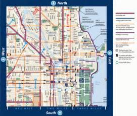 Chicago Loop Map Printable by Biking In Downtown Chicago Illinois Map Chicago Il Mappery