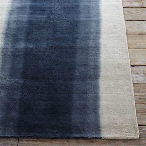 rugs at west elm ombre dye wool rug midnight west elm