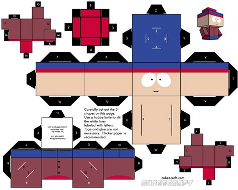 South Park Papercraft - slo緇 si taky papercraft south park stan kor 225 lkov 225