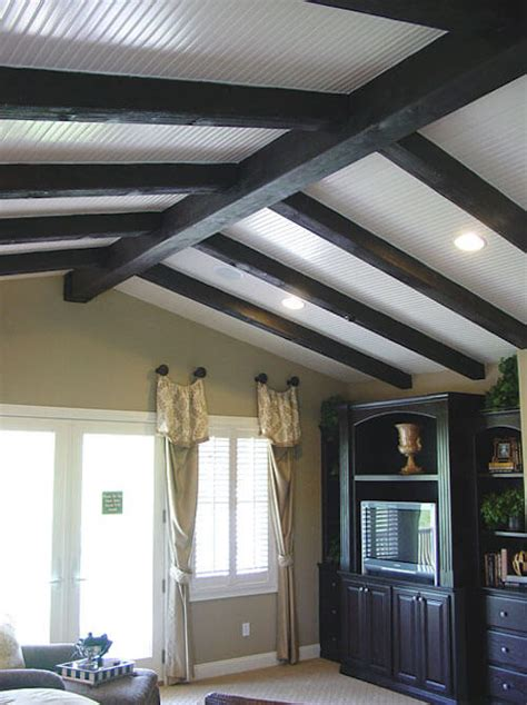 wood ceiling beams 15 faux wood ceiling beam ideas photos