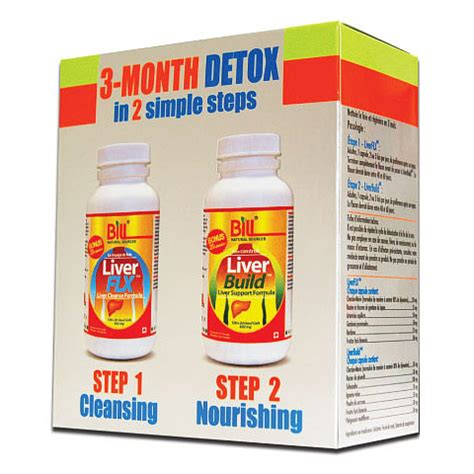 3 Month Detox by Liver Detox 3 Month Kit 120 Capsules X 2 Bottles Bill