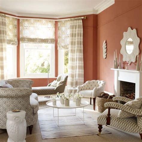 verbrannt orange farbe farben terracotta wohnzimmer mit gemusterten wohnen
