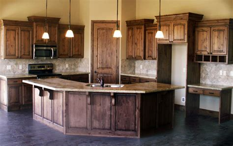 knotty alder kitchen on knotty alder cabinets