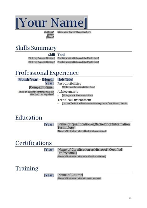 free printable resume template the best letter sle