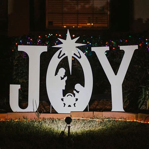 Nativity Yard Sign Template Joy Nativity Yard Sign Christmas Yard Art