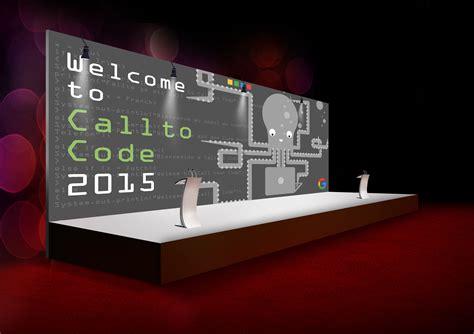 backdrop design mockup google call to code event 2015 jonty design