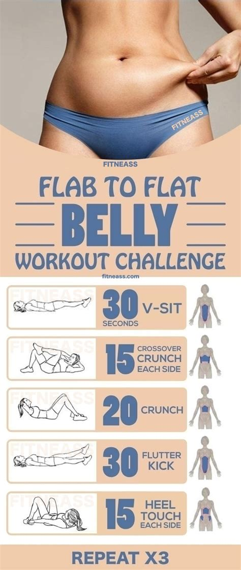 stomach exercise challenge 15 minute flab to flat belly workout challenge