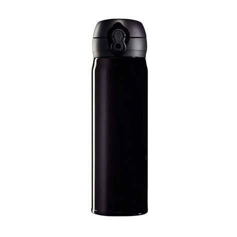 Botol Minum Allumnium Sedang Hitam jual oem stainless steel botol minum termos hitam