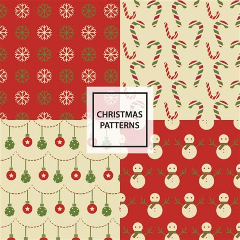 christmas patterns year 1 4 christmas patterns vector free download