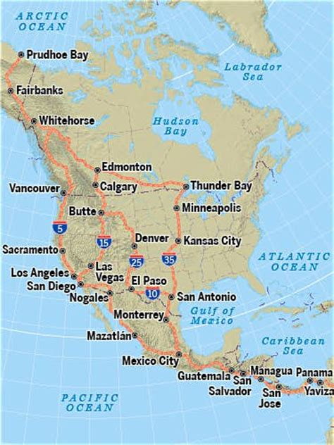 map of the pan american highway the pan american highway join us on the ultimate road trip