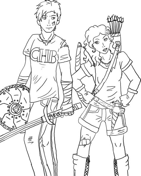 percy jackson annabeth free colouring pages