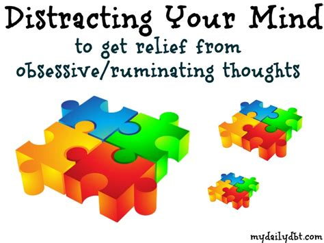 ruminating thoughts worksheet mydailydbt dbt skill distracting for relief of obsessive or ruminating thoughts ocd bpd