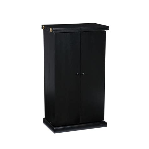southern enterprises china cabinet southern enterprises black bar with fold out feature