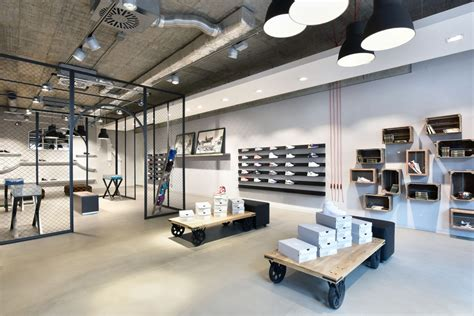 industrial style shop what shop design can look like sneakstar in flensburg