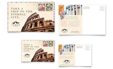 quark templates for brochures italy travel postcard template design