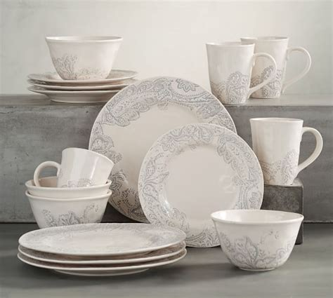 pottery barn china scarlett 16 piece dinnerware set pottery barn