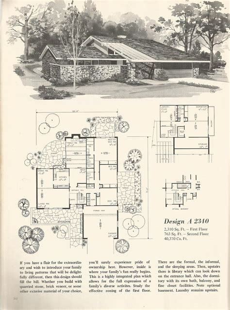 split level floor plans 1970 1970s house plans vintage 1970s split level house plans