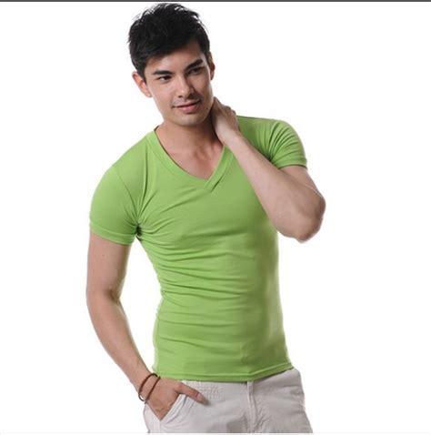Kaos Polos Basic Pink V Neck High Quality Cotton high quality cotton t shirt brand xuba t shirts v neck mens t shirts simple plain
