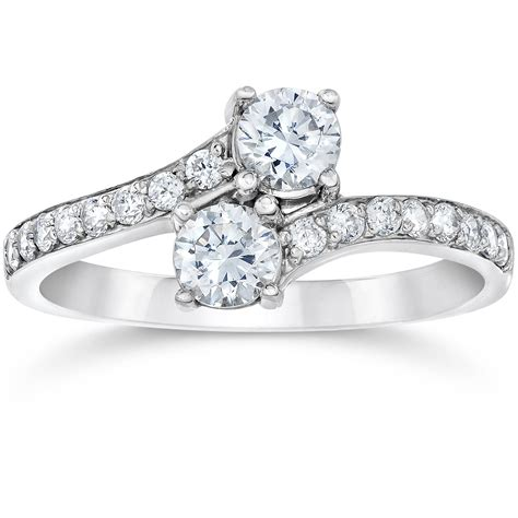 Ring With Diamonds Around It by 1 Carat Forever Us Solitaire Two