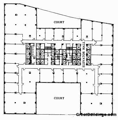Chrysler Building Floor Plan | gallery of ad classics chrysler building william van