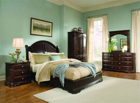 light green bedroom ideas with dark wood furniture light